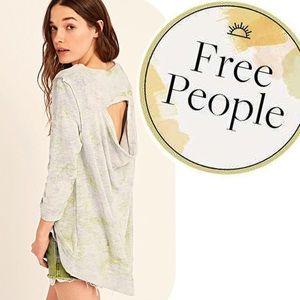 Free People Cloudy Day Sweatshirt Tie Dye Oversize